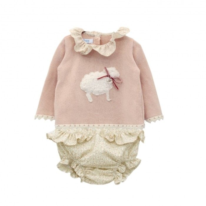 Pale Pink Sweater & Knickers Set