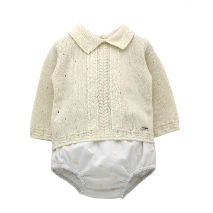 Baby Ivory & Beige Shorts Set