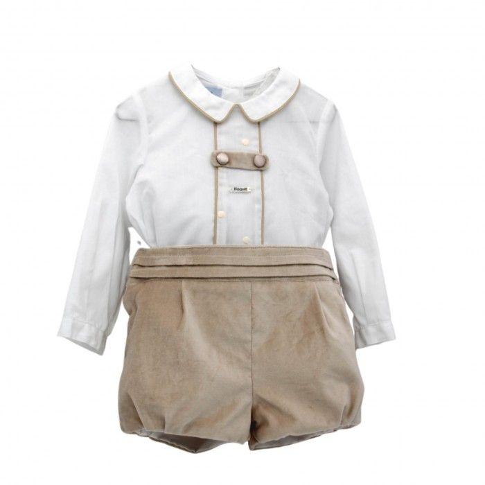 Ivory & Beige Velvet Shorts Set