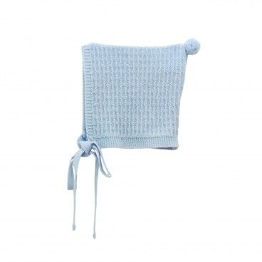 Baby Blue Knitted Bonnet