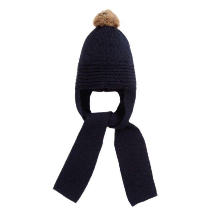 Navy Knit Hat & Scarf