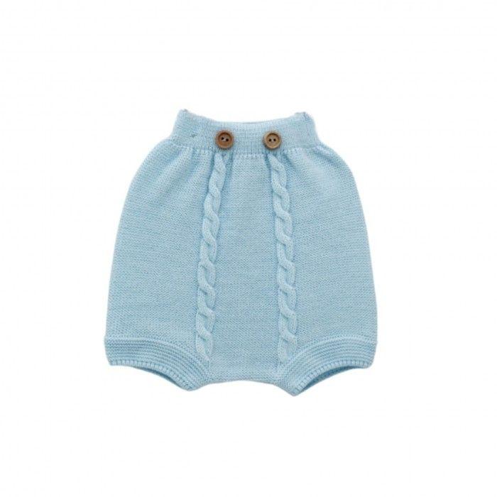 Baby Blue Knit Shorts