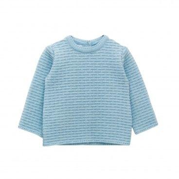 Sweat Bebé Malha Azul