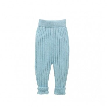 Blue Knitted Baby Trousers