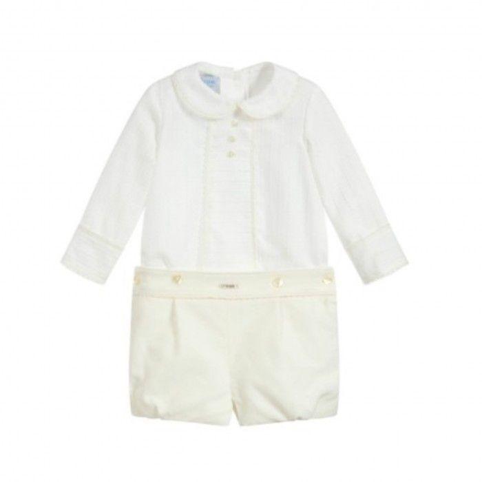 Baby Boys Ivory Shorts Set