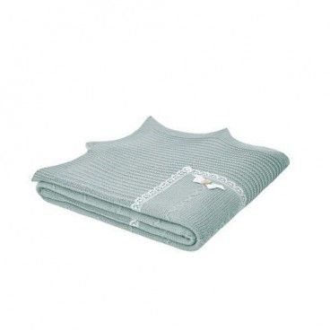 Sage Green Knitted Blanket