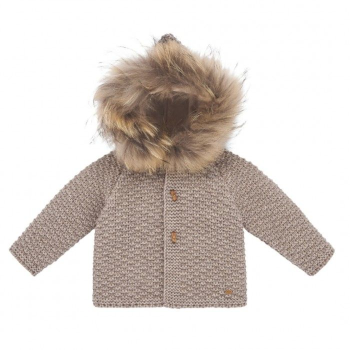 Sand Knitted Fur Jacket