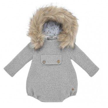 Baby Grey Fur Romper