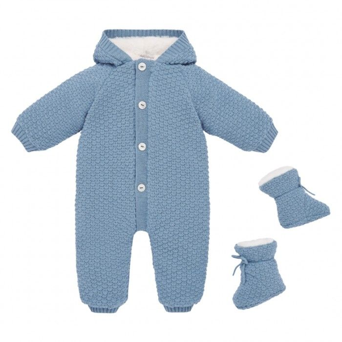 Artic Blue Snow Suit with Booties