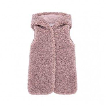 Girls Mist Pink Waistcoat