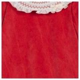 Red Velour Babygrow