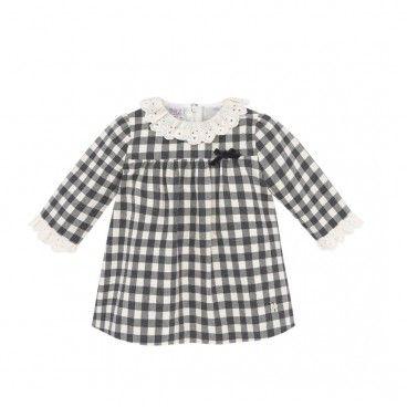Black Check Cotton Dress