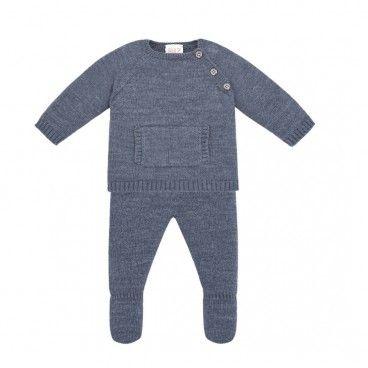 Baby Boys Cobalt Knitted Set
