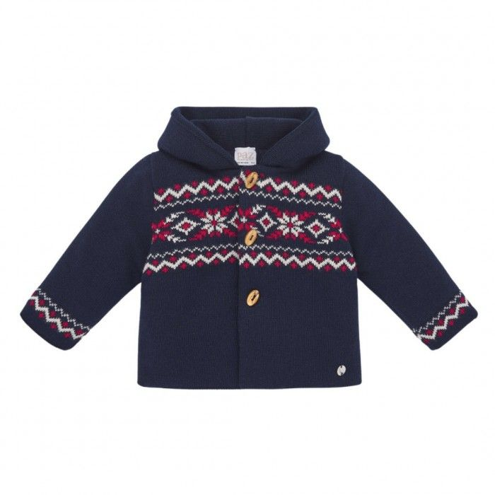Boys Navy Blue Knitted Jacket