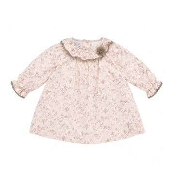Pink & Beige Floral Dress