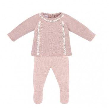 Mist Pink 2 Piece Babygrow