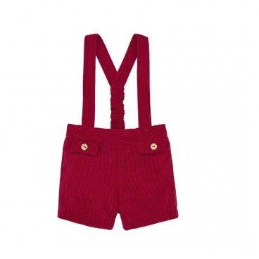 Boys Red Shorts Paz
