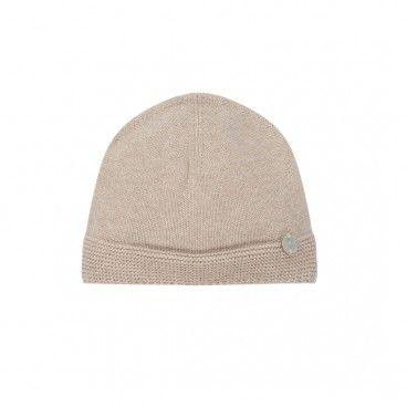 Beige Cotton Baby Hat