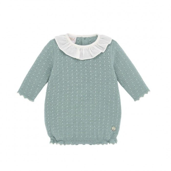 Sage Green Knitted Romper
