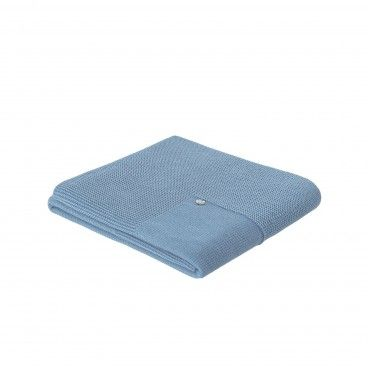 Blue Artic Knitted Blanket