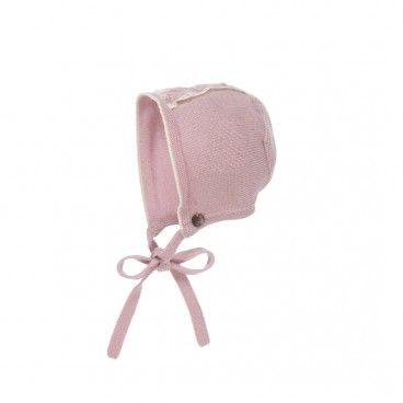 Mist Pink Baby Bonnet