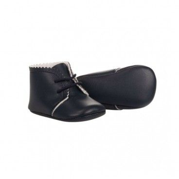 Navy Leather Pre-Walkers Shoes