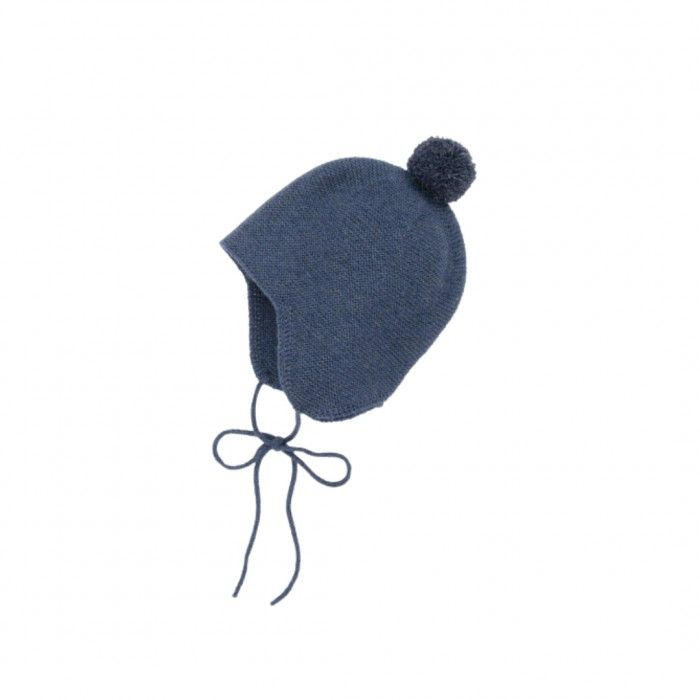 Baby Cobalt Pom-Pom Hat