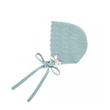 Sage Green Knitted Bonnet