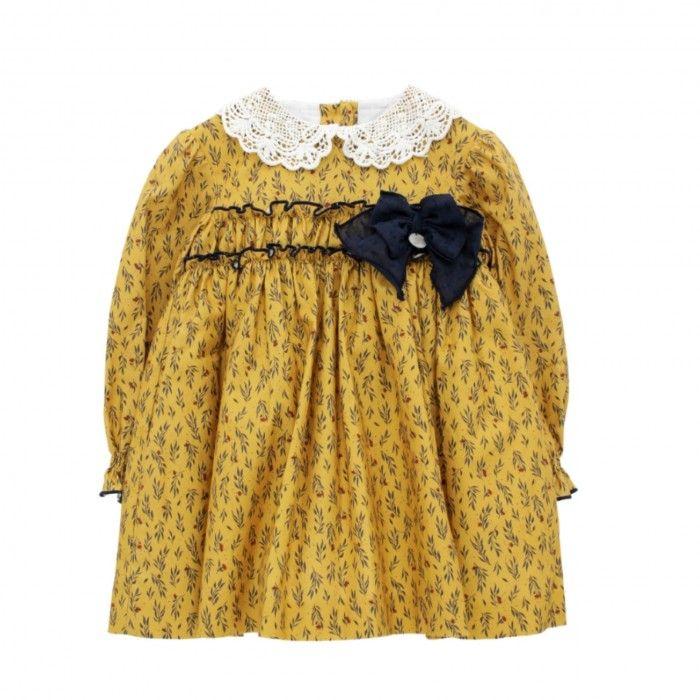 Yellow Mustard Floral Dress
