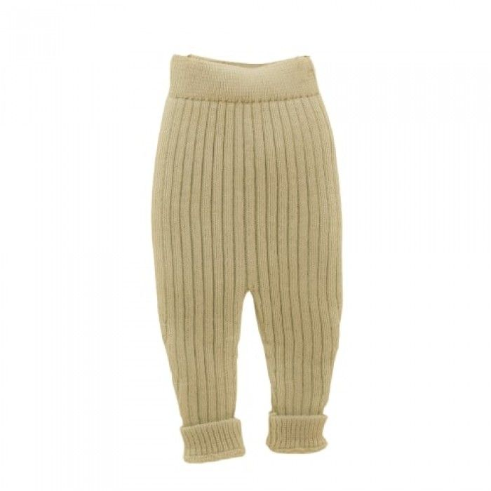 Beige Knitted Baby Trousers