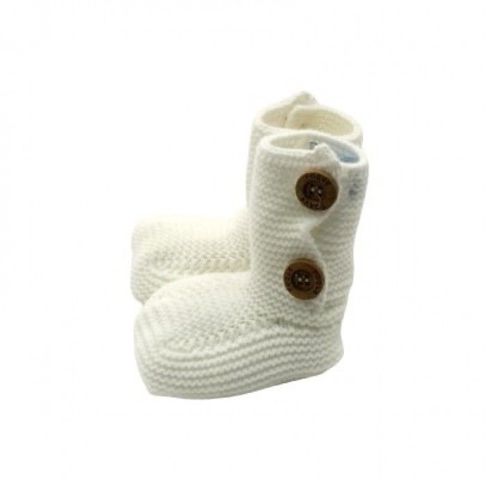 Baby Ivory Knit Bootees