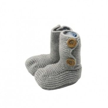 Baby Grey Knit Bootees