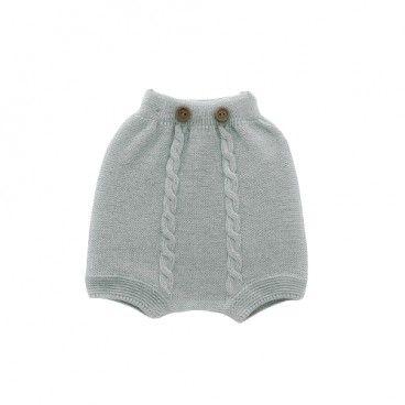 Baby Grey Knit Shorts