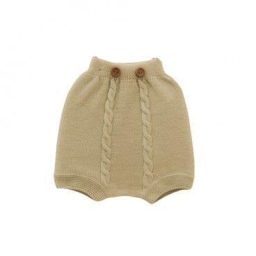 Baby Beige Knit Shorts