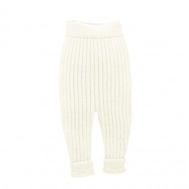 Ivory Knitted Baby Trousers