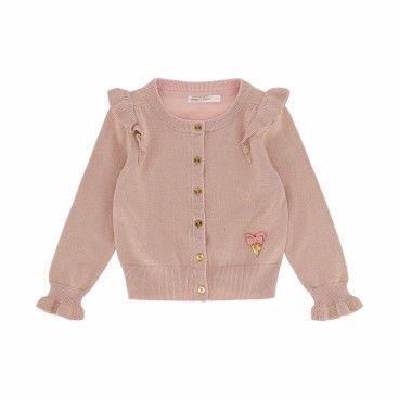 Girls Pink Blush Cardigan