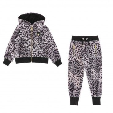 Black Leopard Velour Tracksuit