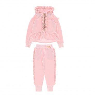 Girls Tracksuit Ballet Pink
