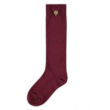 Burgundy Charming Socks