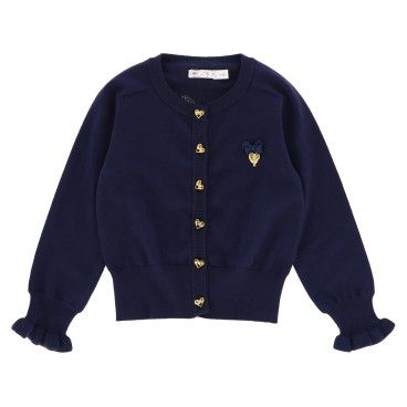 Girls Navy Cardigan